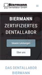 Mobile Preview of biermann-dentallabor.de