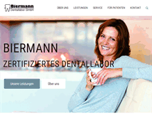 Tablet Preview of biermann-dentallabor.de